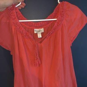 Loft coral blouse!